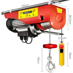 Giantz Electric hoist winch 18M 1000KG