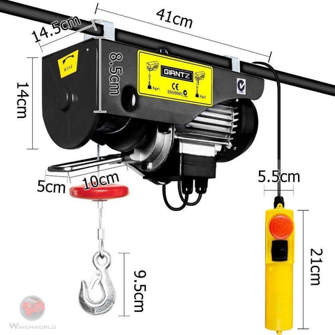 Giantz Electric Hoist Winch 800KG 1300W , 18m EH-18M-PA800A