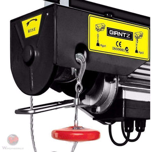 Giantz Electric Hoist Winch 800KG 1300W , 18m - Winchworld