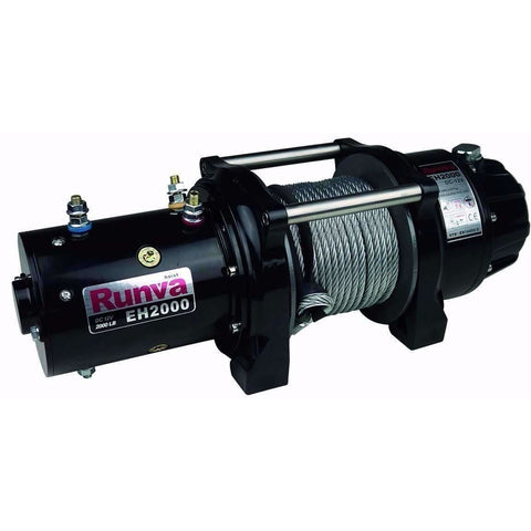 Runva EH2000 12V with Steel Cable Lifting Winch