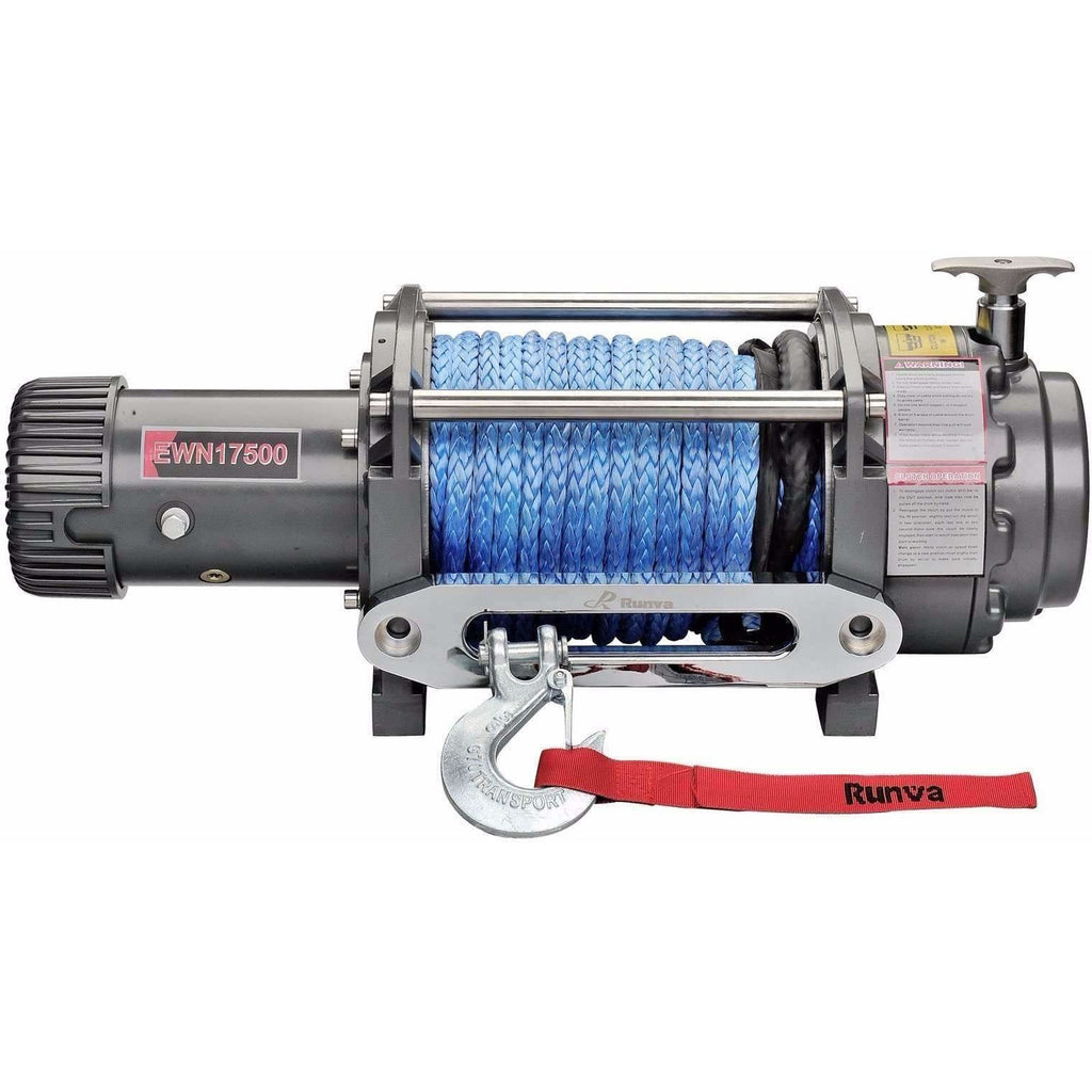 Runva EWN17500 12V with Synthetic Rope