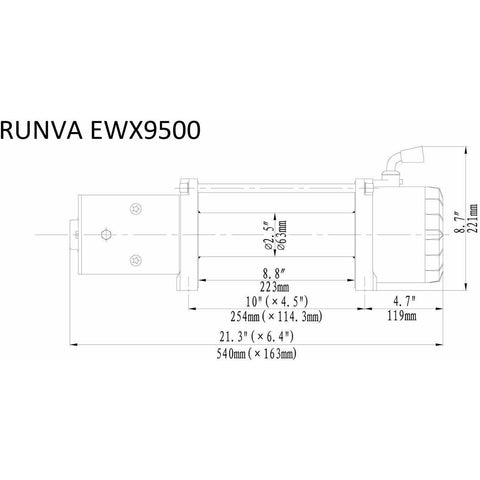 Image of Runva EWX9500 12V with Synthetic Rope