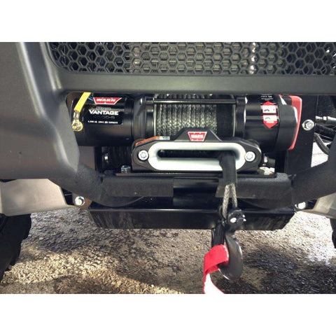Warn 12v atv winch 17m synthetic rope, pv4500-s-90451