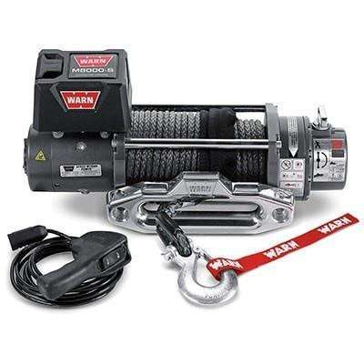 Image of Warn, 12v self recovery winch 24m synthetic rope, cem8000-88552 - Winchworld