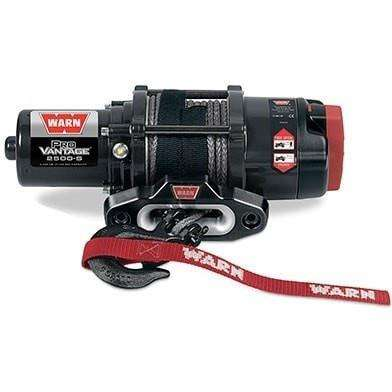 Warn, 12v atv winch 15m synthetic rope w/ wireless rmote, pv2500-s-91026 - Winchworld