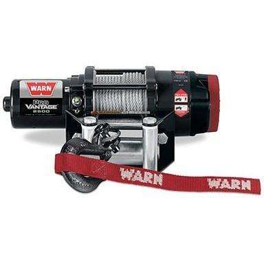 Warn, 12v atv winch 15m wire rope w/ wireless rmote, pv2500-91025 - Winchworld