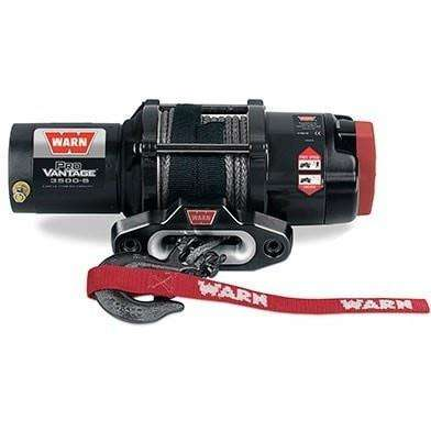 Warn, 12v atv winch 15m synthetic rope w/ wireless rmote, pv3500-s-91036 - Winchworld