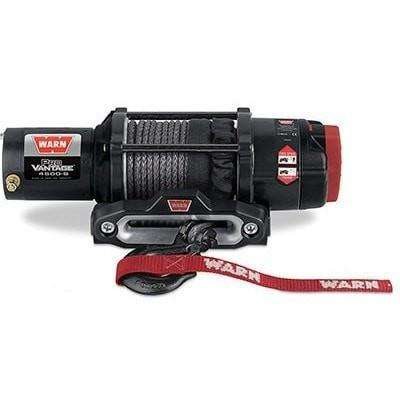 Warn, 12v atv winch 17m synthetic rope, pv4500-s-90451 - Winchworld