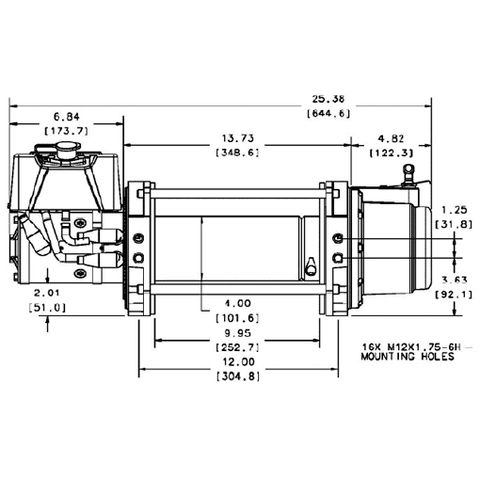 Image of Warn Industrial Dc Hoist 9000lbs Series 9 Dc