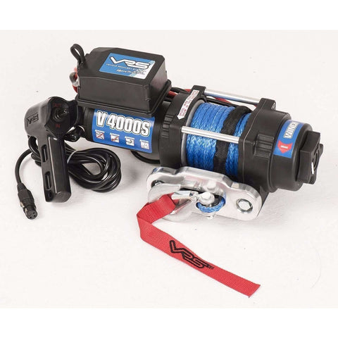 VRS V4000S winch with synthetic rope