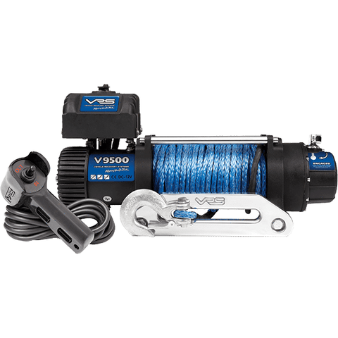 VRS V12500 winch with synthetic rope V12500S + Led Bar 126w Cre Mix 02