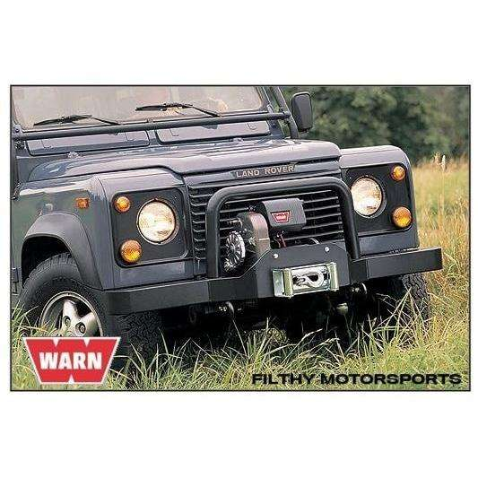 Warn 12v high mount winch 46m wire rope, cem8274-50-88631