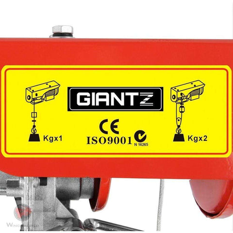 300/600KG 1200 W Electric Hoist Winch - Winchworld