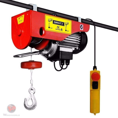 Image of Giantz Electric Hoist Winch 400/800KG 1300W - Winchworld