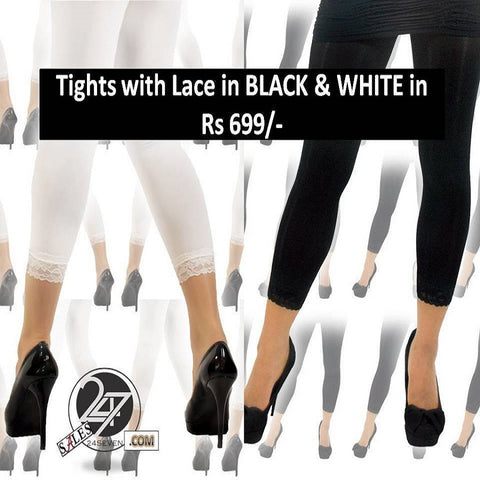 Lace Tights Pack of 2