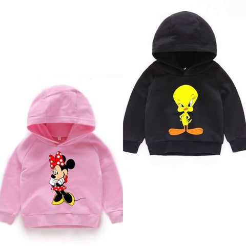 Pack of 2 Kids Printed Hoodies