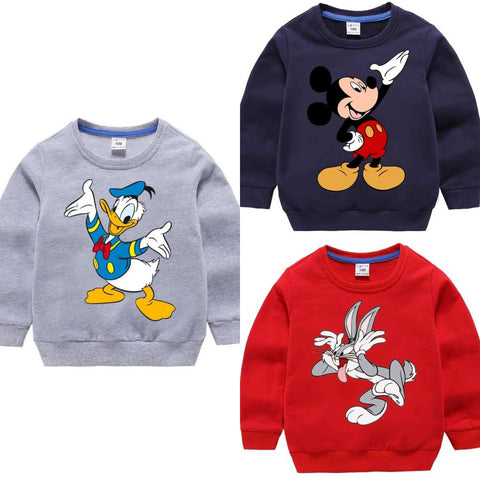 Pack of 3 Kids Printed Sweat Shirts