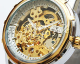 Rolex Skeleton Automatic Two-Tone Wrist Watch