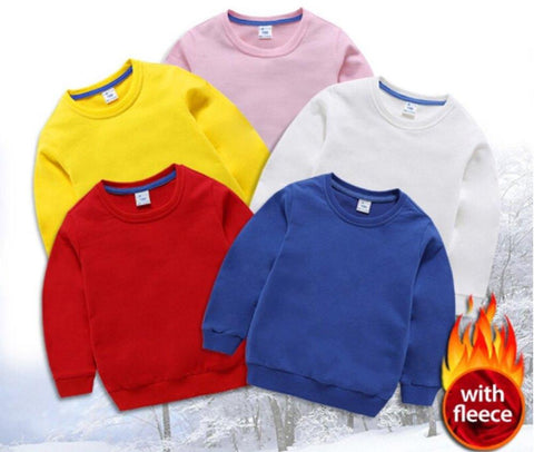 PACK OF 5 PLAIN SWEAT SHIRTS FOR KIDS