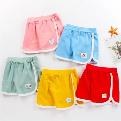 Pack of 5 Side Stripe Printed Shorts for Girls