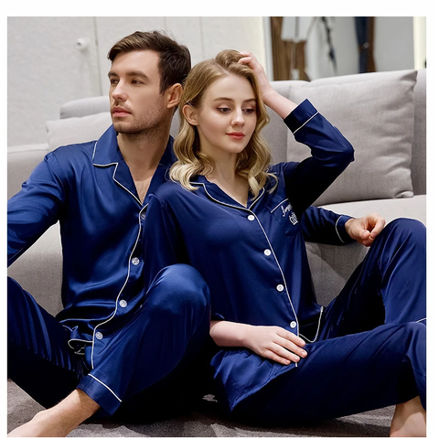 Pocket Logo Pj Set Deal For Couples (2 Pairs)