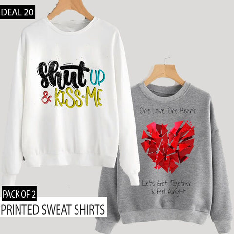 PACK OF 2 PRINTED SWEAT SHIRTS ( DEAL 20 )