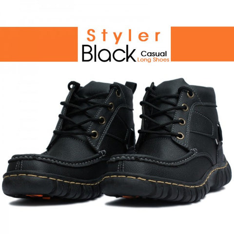 DIGGER Black Casual Long Shoes