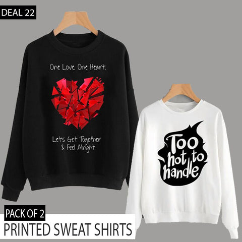PACK OF 2 PRINTED SWEAT SHIRTS ( DEAL 22 )