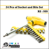 Professional 24 Pieces Socket & Bits Set