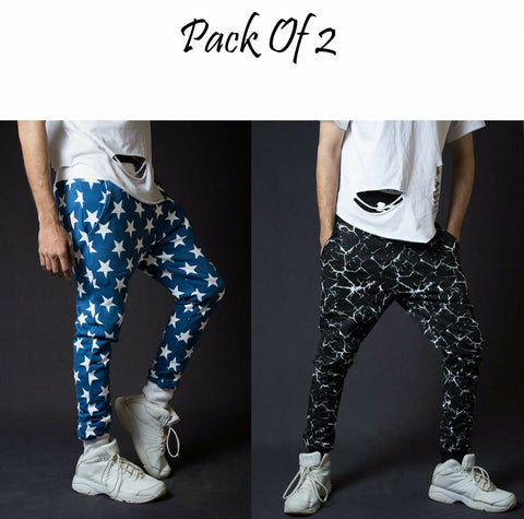 Pack of 2 Stylish Electra Printed Trousers