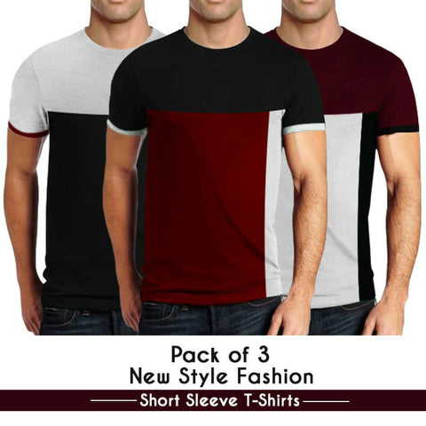 Pack of 3 New Style Fashion Short Sleeves T-Shirts
