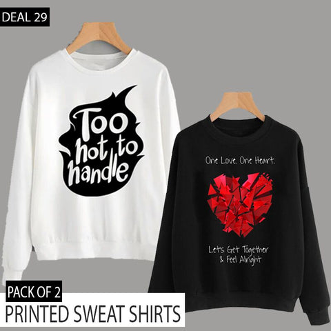 PACK OF 2 PRINTED SWEAT SHIRTS (DEAL 29)