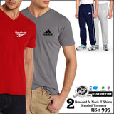 2 Branded V neck shirts and 2 Trouser