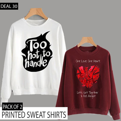 PACK OF 2 PRINTED SWEAT SHIRTS (DEAL 30)
