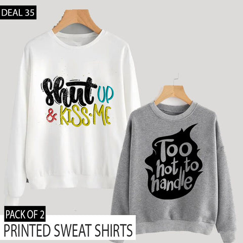 PACK OF 2 PRINTED SWEAT SHIRTS (DEAL 35)