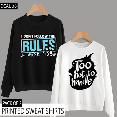 PACK OF 2 PRINTED SWEAT SHIRTS (DEAL 38)