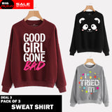 PACK OF 3 SWEAT SHIRTS ( DEAL 3 )