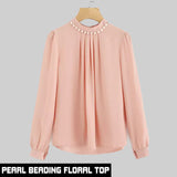 11-11 SALE: PEARL BEADING FLORAL TOP