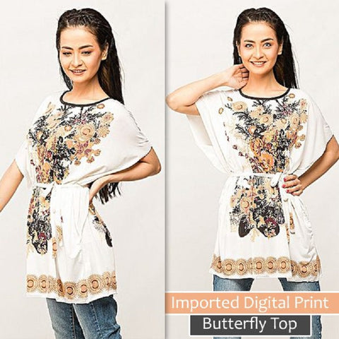 Imported Digital Print Butterfly Top  (Design-4)