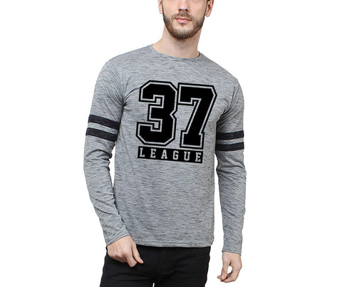 37 LEAGUE PRINTED PLAIN T-SHIRT FULL SLEEVE