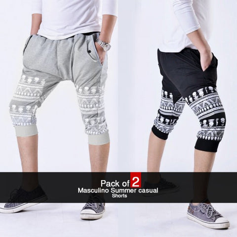 Pack of 2 Masculino Summer Shorts