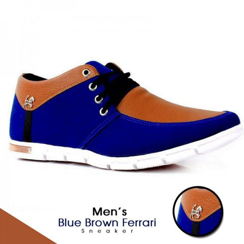 Men's Blue Brown Ferrari Sneaker