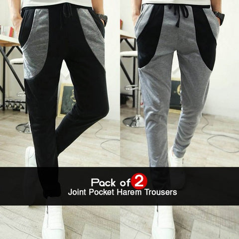 Pack of 2 Joint Pocket Harem Trousers