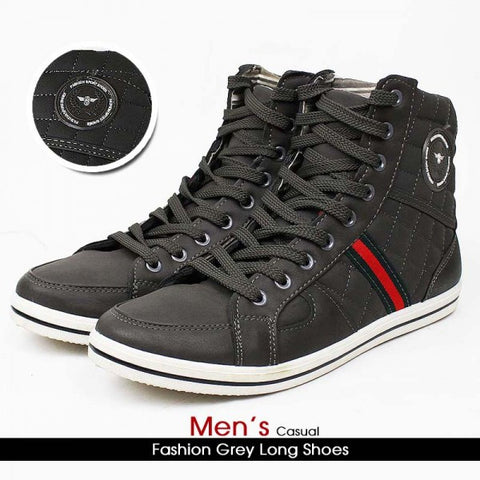 Men's Casual Fashion Long Grey Shoes