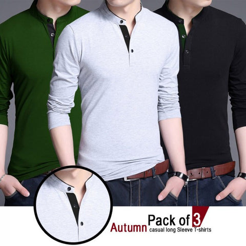 Pack of 3 Autumn casual Long T shirts