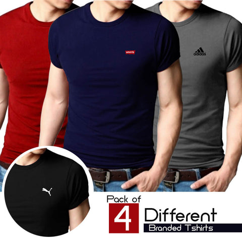 Pack of 4 Different branded T shirts