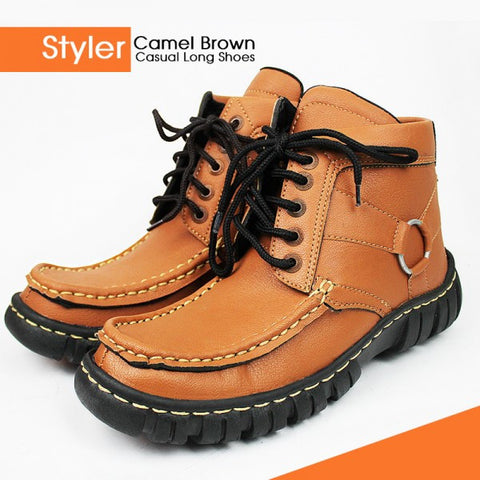 DIGGER Brown Casual Long Shoes