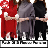 12-12 SALE:  Pack Of 2 Female Fleece Poncho
