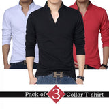 Pack of 3 Collar T shirts