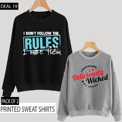 Pack of 2 Printed Sweat Shirts ( Deal 19 )